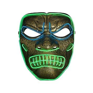 SOUTHSKY Gorila Mascara LED Mascara Disfraz de Luces Neon ...