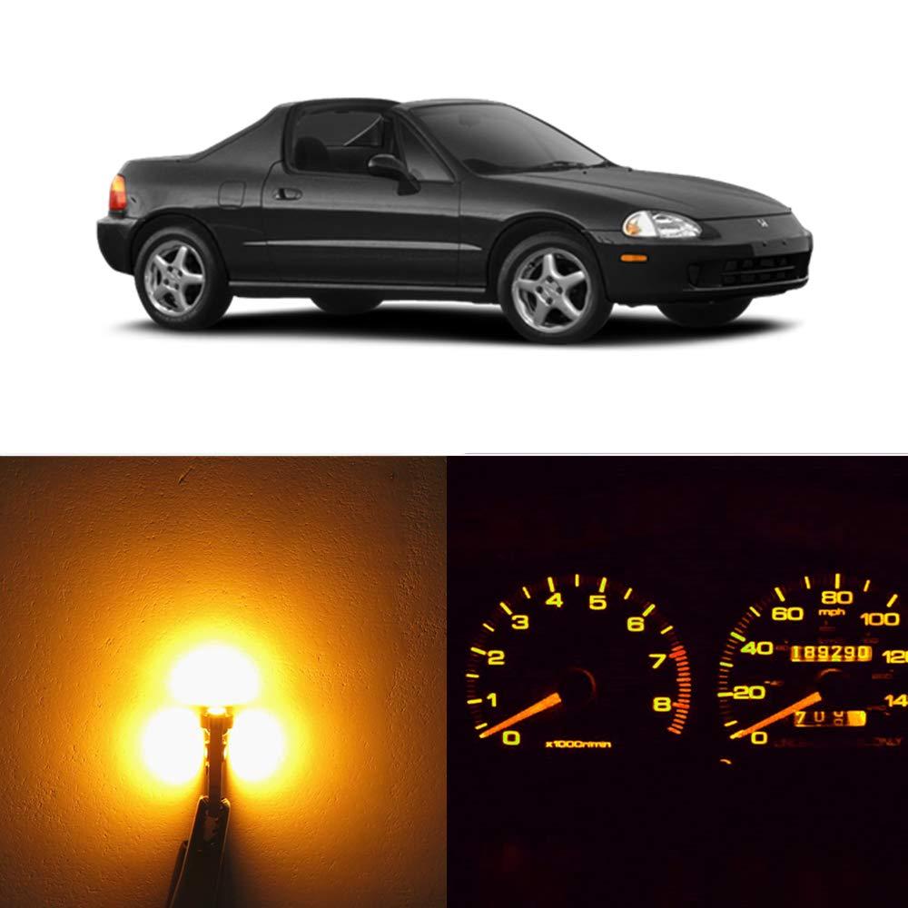WLJH Super Blue Dash Instrument Cluster Lights Gauge Speedometer Led Kit Fits 1993-1997 Honda Civic Del Sol Pack of 17