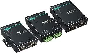 2 Port Device Server, 10/100M Ethernet, RS-422/485, Terminal Block, 15KV ESD, 0.5KV Serial Surge, 12~48VDC, -40~75°C