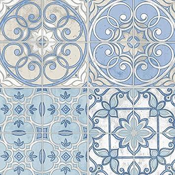 Küchen Tapete Landhaus Fliesen Ornamente Mandala: Amazon.de: Baumarkt