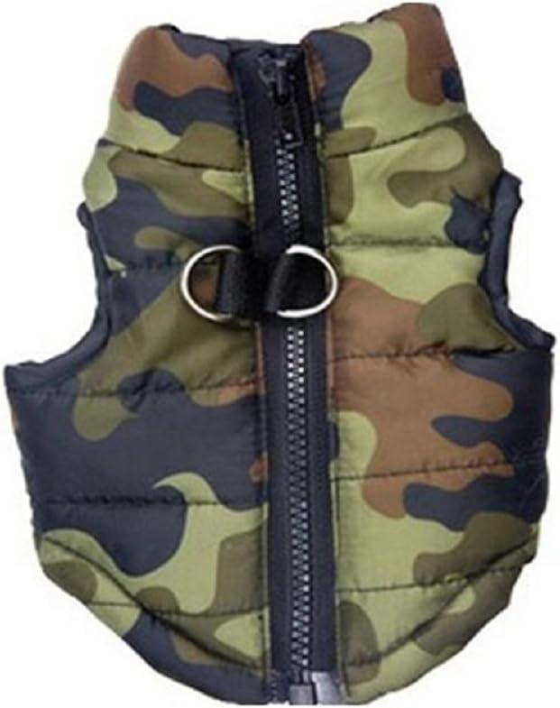 UEETEK Ropa para perros chaqueta otoño invierno