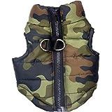 UEETEK Inverno Vestiti Gilet giacca calda senza manica Impermeabile per Cani Piccoli Medi grande Taglia S