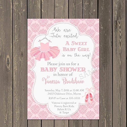 Ballerina Baby Shower Invitations - 3
