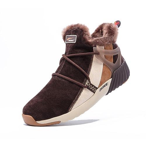 Onemix Hombre Botas de Nieve Mujer Botines Invierno Piel de Imitación Espesar Zapatos: Amazon.es: Zapatos y complementos
