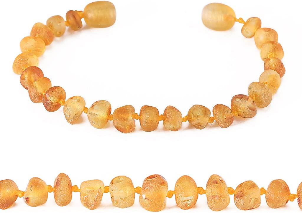 - Baby Gift Sets Unisex Natural Anti Inflammatory Beads.Teething Pain Reduce Properties Lemon Raw Raw Baltic Amber Teething Bracelet or Anklet for Boy or Adult 8 Inches