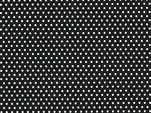 Pack of 1, Black Celb Dot 24'' x 417' Half Ream Roll Gift Wrap for Holiday, Party, Kids' Birthday, Wedding & Special Occasion Packaging by Generic