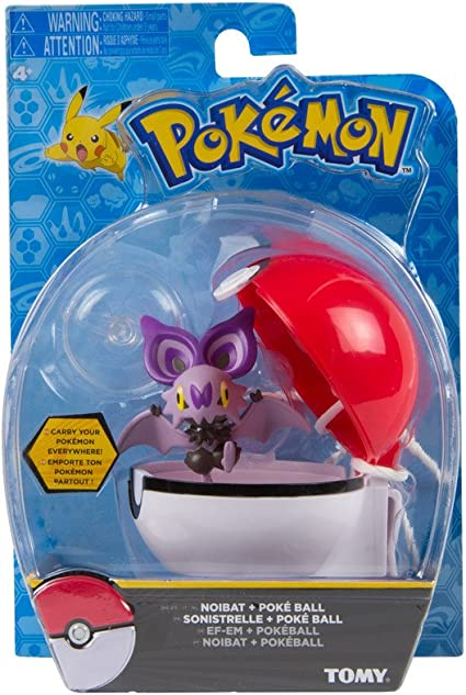 Pokemon Clip N Carry Poke Ball with Pikachu Action Figure Toy Set