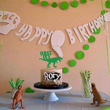 HEETON Three Rex Cake Topper Dinosaur Birthday Cake Topper ...