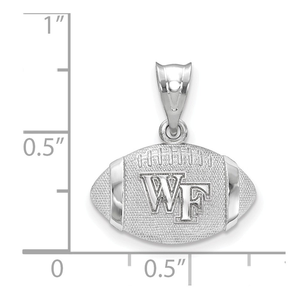 Sterling Silver Wake Forest University NCAA North Carolina Jewelry Pendants /& Charms 17 mm 19 mm Wake Forest University Football Pendant