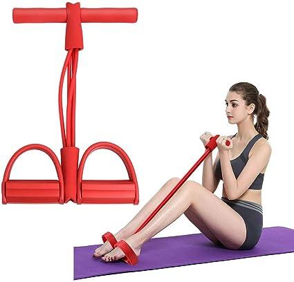 Bodybuilding Expander Yoga Pedal Puller Sit Up Exercise Resistance Band for Home