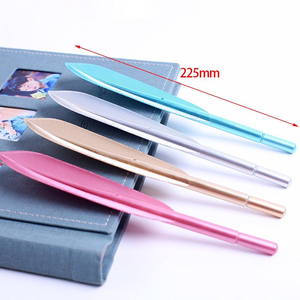 Plumes Rollers /à encre gel 4/couleurs 4/pcs Nouveau mignon Aile Plume Stylo /à bille stylos /à encre gel stylos Creative Stationery Office Student Back to School