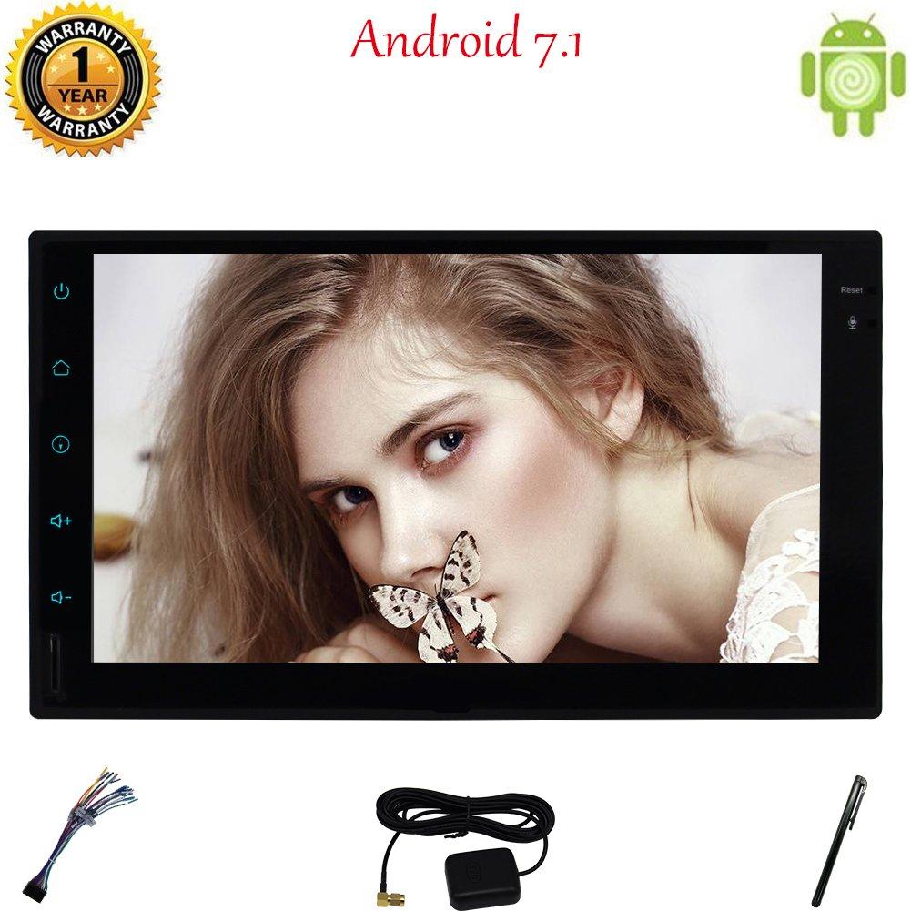 """Double 2 Din Car Stereo, Eincar Dash 7"""" 1024 * 600 Full HD écran tactile Android 7.1 Unité principale Navigation GPS 2 Go de RAM 32GB ROM voiture stéréo Octa Avec base WIFI / écran miro"""