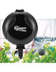Hygger Pompe à Air pour Aquarium Super Silencieuse De <33db Électromagnétique Oxygène Mini Pompe pour Aquarium Jusqu'à 50l Réservoir À Poissons Ultra Silencieux Economiseur De Nano Énergie 1.5W (Noir)
