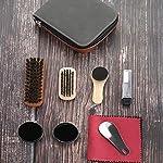Ensemble de 9 Kit de cirage de chaussures Brosse de soins spéciaux Ensemble de chaussures en cuir Entretien du nettoyage… 12