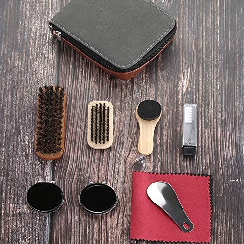 Ensemble de 9 Kit de cirage de chaussures Brosse de soins spéciaux Ensemble de chaussures en cuir Entretien du nettoyage… 5