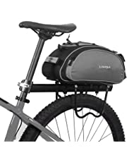 Lixada Bicycle Rack Bag Multifunction Waterproof MTB Bicycle Pannier Bag Bike Rear Seat Bag Cycling Cargo Carrier Bag Saddle Bag(Optional)