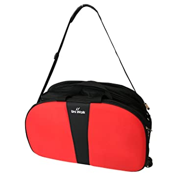 SAISAN Travel Duffel Bag, Lightweight Waterproof Luggage, Trolley Bag with Roller  Wheels -Black + Orange Size   Lxbxh (18 x 9 x 11)  Amazon.in  Bags, ... 077ff4fef3