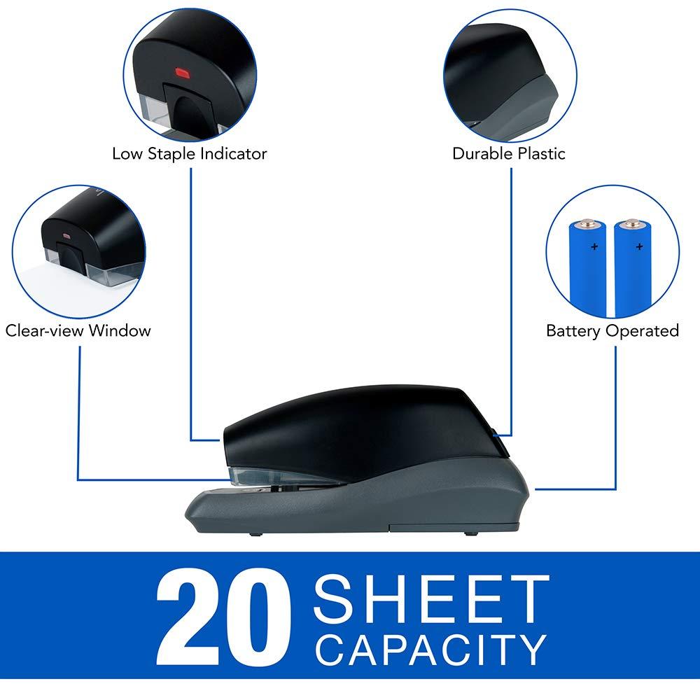 Black Swingline Automatic Stapler 42132 20 Sheet Capacity Battery Powered Breeze