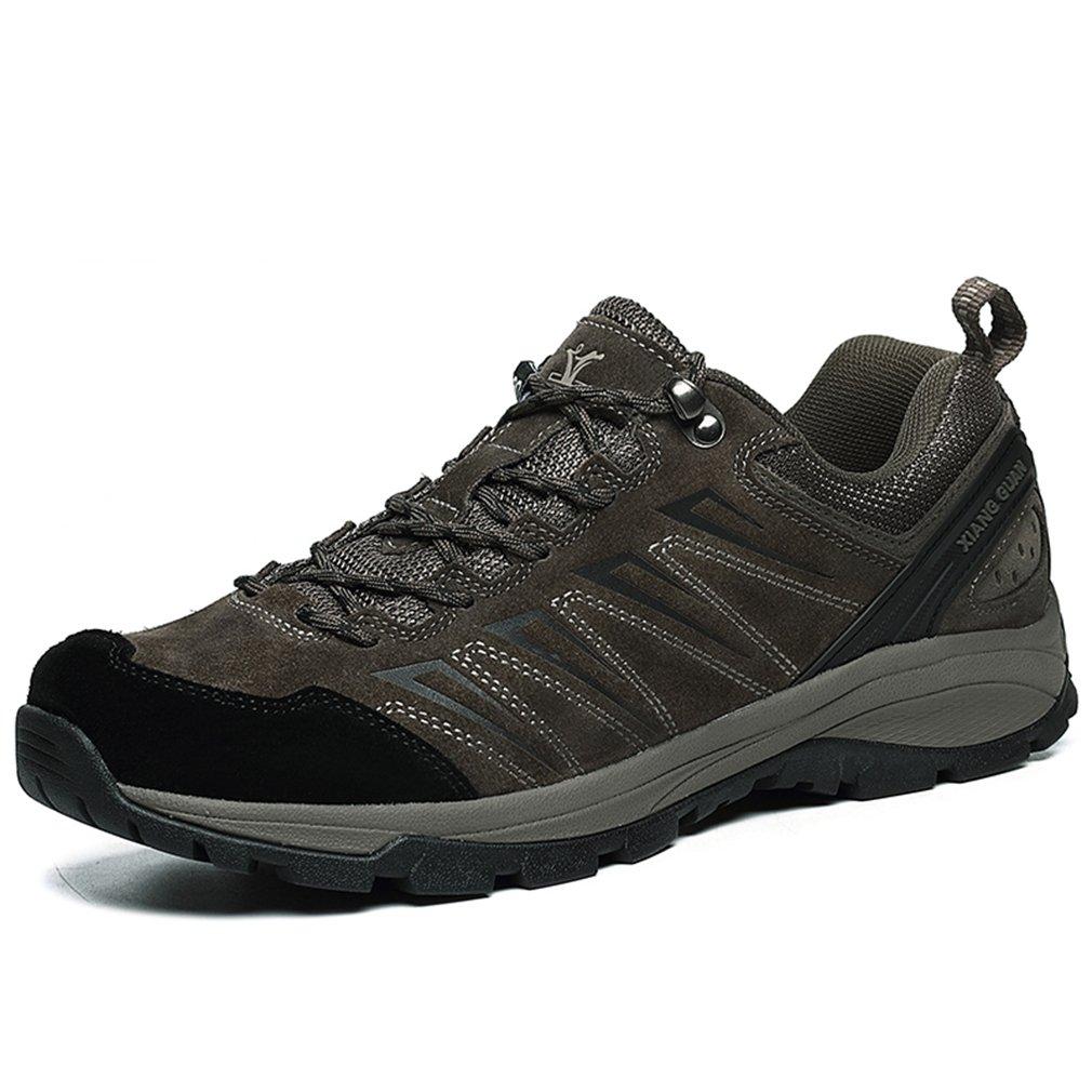 Xiang Guan Herren Atmungsaktiv Outdoor Sport Trekking Wanderhalbschuhe Niedrig-Top Lace-up Wildleder Wasserdicht Schuhe