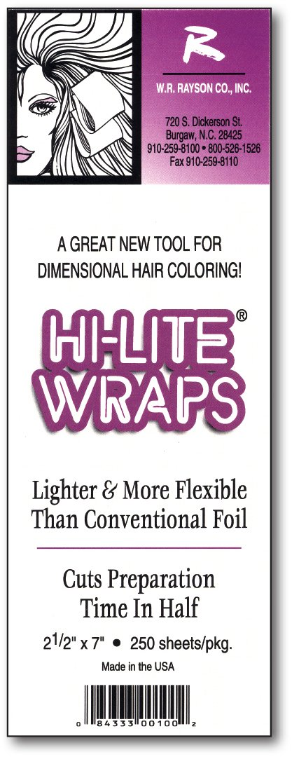 Hi-Lite Wraps 2.5 x 7, 250 Sheets Per Box, 6 boxes by It's a Wrap by Rayson (Image #1)