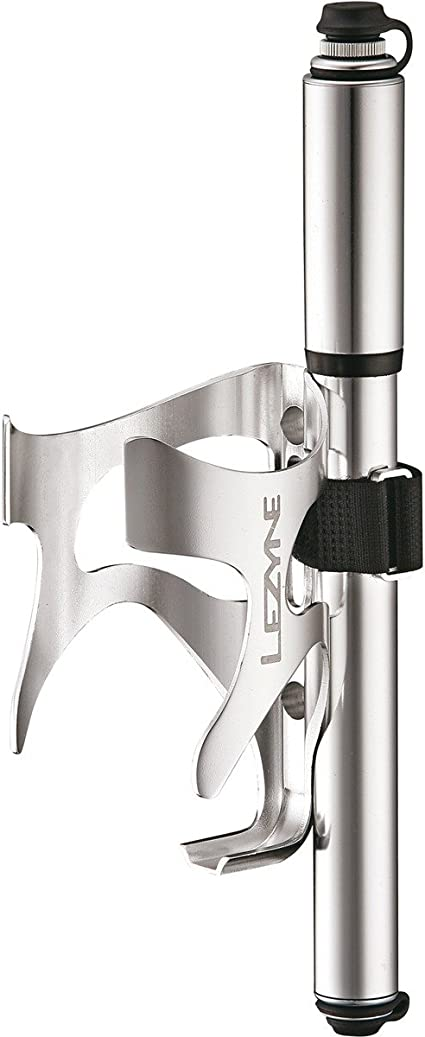 Lezyne CNC Water Bottle Cage Aluminum with Pump Mount Gloss Red