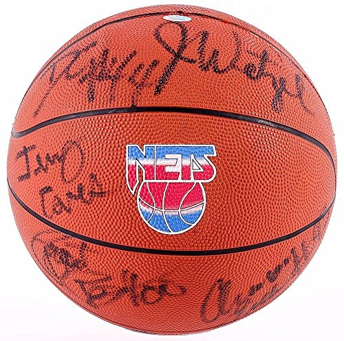Nj Nets 1994-95 Team Signed Ball Wetzel Williams Mahorn Childs Coleman Anderson+ - Autographed Basketballs