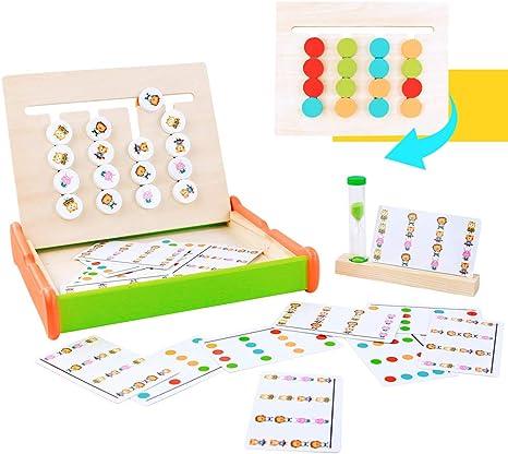 Symiu Montessori Juguetes Puzzles Juego de Madera Juegos ...