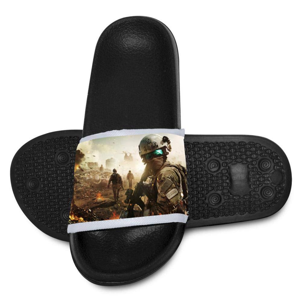 Battle-Field Youth Bath Slipper Anti-Slip for Indoor Home House Sandal 3 B(M)