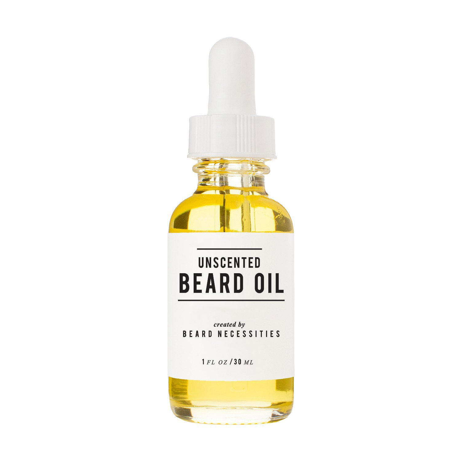 Unscented Beard Oil & Leave In Conditioner By Beard Necessities - Natural Argan & Jojoba Oils Will Soften Facial Hair & Allow Growth. Best Oil For Mens Grooming Kit. Care For Your Beard Today! (1 Oz)