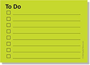 Sticky Notes with to-Do List Planner & Checklist with Lines - 4 Pads/Pack, 100 Sheets/Pad, (400 Total Sheets), Bright Green (2.8 in x 4 in)