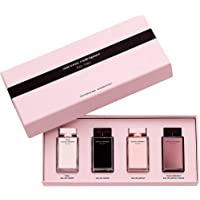 Narciso Rodriguez for Her Miniatures Collection: L'eau Eau de Toilette .25 oz, Eau de Toilette .25 oz, Eau de Parfum .25 oz, L'absolu Eau de Parfum .25 oz