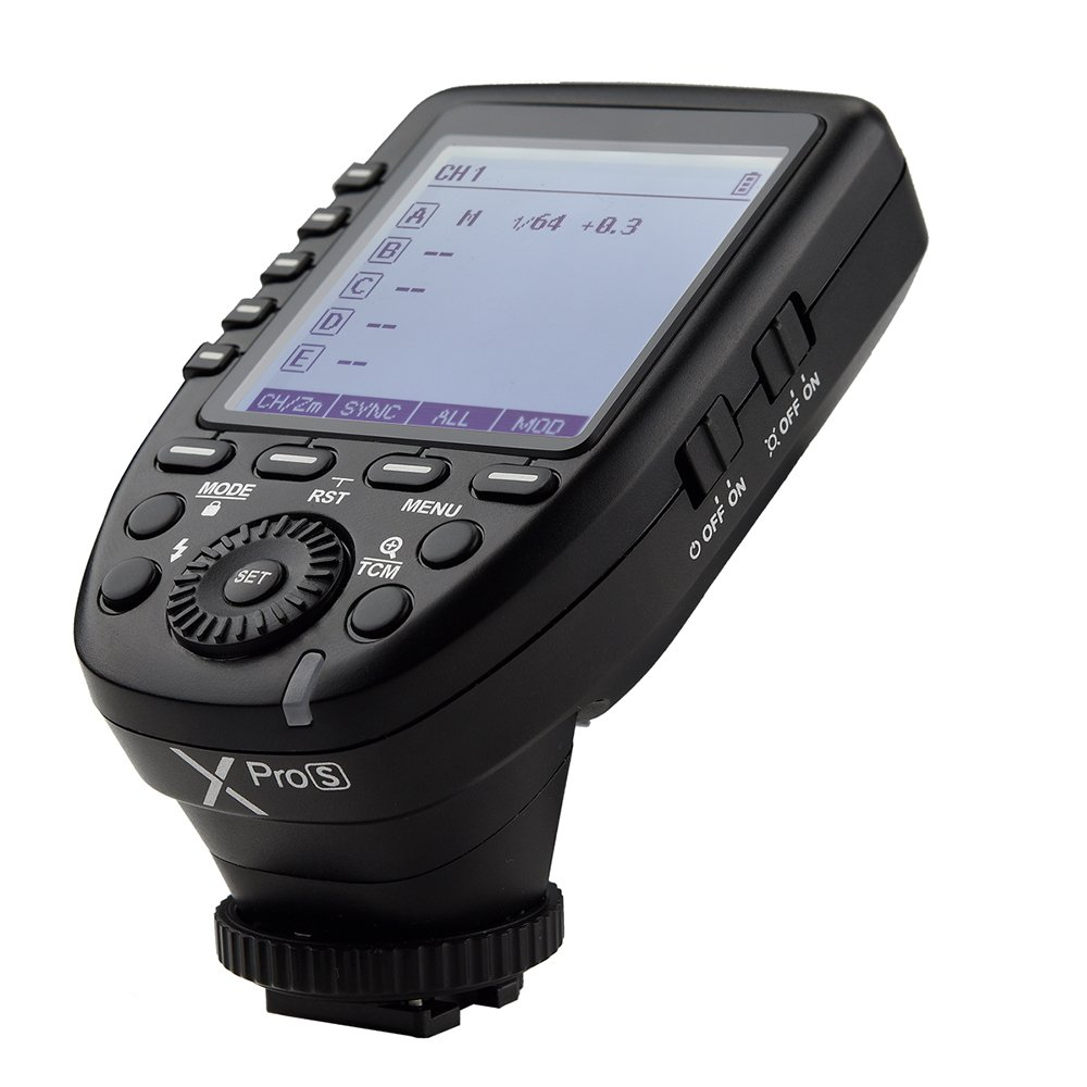 Godox Xpro-S TTL Wireless Flash Trigger 1/8000s HSS TTL Convert-Manual TCM Function Large LCD Screen Flash Transmitter for Sony Cameras Sony a7II, a7,a99, ILCE-600L,a9, A7R, A7RII, a350, DSC-RX-10 by Godox