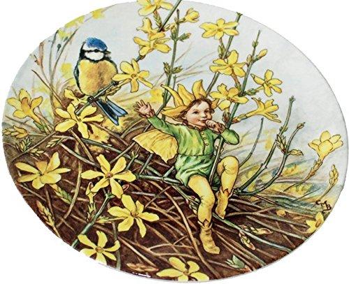 Wedgwood placa de mundo de hadas de las flores el invierno jazmín hada por Cicely Mary Barker