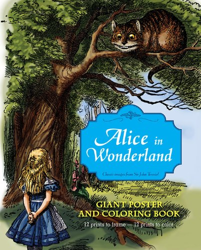 Read Online Alice in Wonderland Giant Poster and Coloring Book pdf