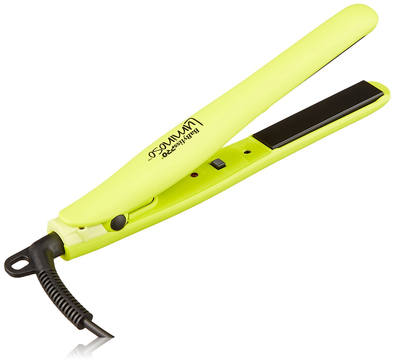 "BaBylissPRO Luminoso Mini Flat Iron, 3/4"", Yellow - 61UCrqxHlAL - BaBylissPRO Luminoso Mini Flat Iron"