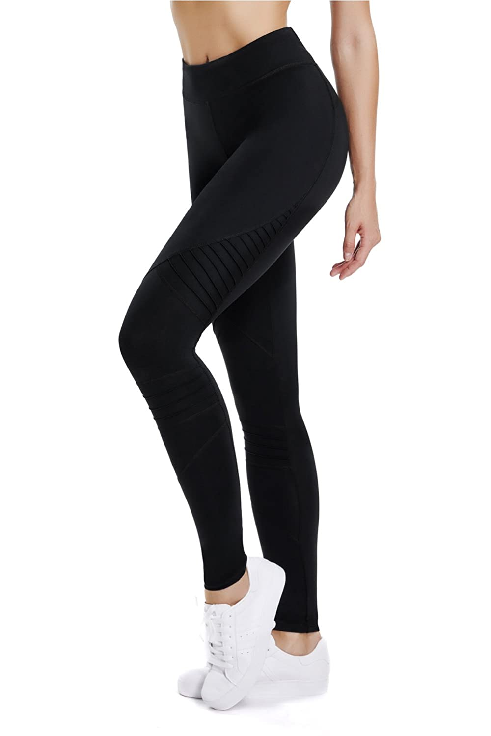 9b15d7b470a67 Cute Design Yoga Pants that make pleated on the knee. Keep up with the  fashion trends. The Yoga Pants use breathable fabric with Gusset, provides  max ...