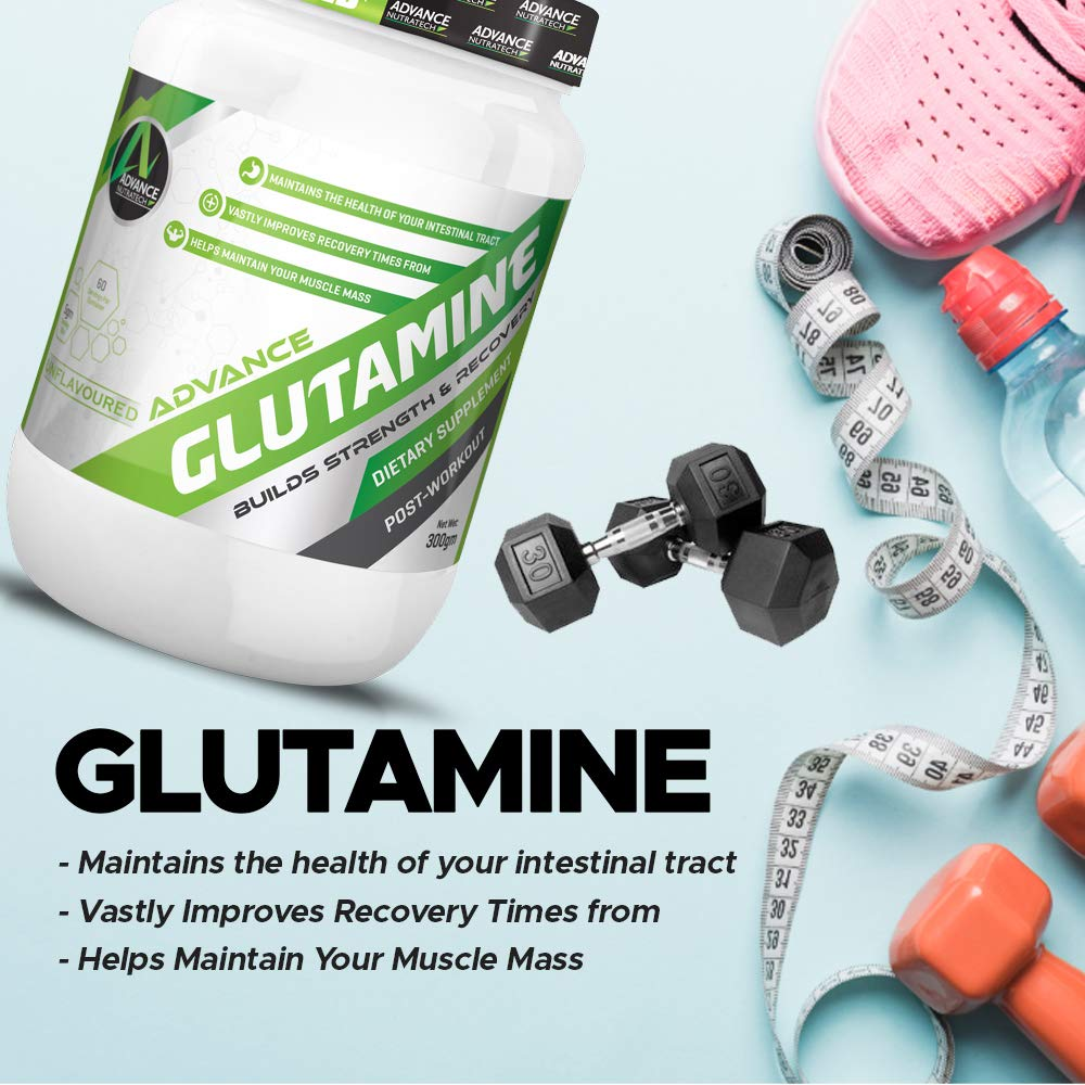 L Glutamine – 300 G (Lemon Flavored) 30 Servings – Shaker – Micronized for Muscle Growth