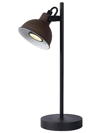 Lucide Damian - Lámpara de mesa, acero, 35 W, color negro ...