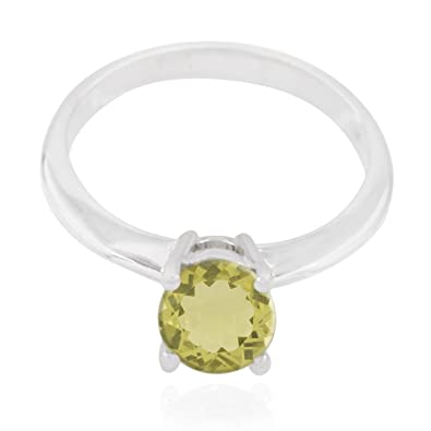 Granat Ring 925 Sterling Silber runder facettierter Edelstein SONDERPREIS NEU