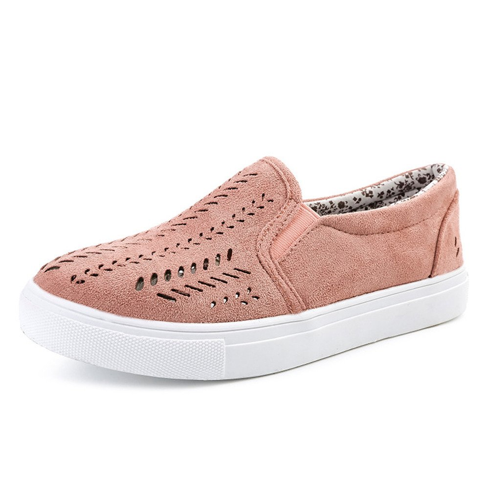 Nevera Womens Flat Hollow Out Memory Foam Cushioned Insole Casual Slip-On Loafers Sneakers Shoes