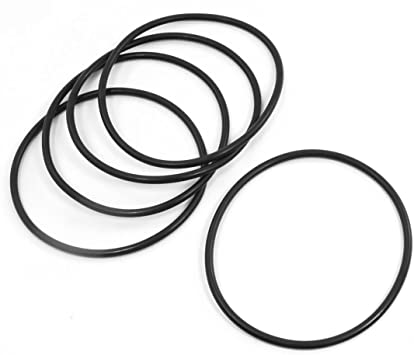 5pcs Metric 130mm OD 3.5mm Thick Industrial Rubber O Ring Seals Black