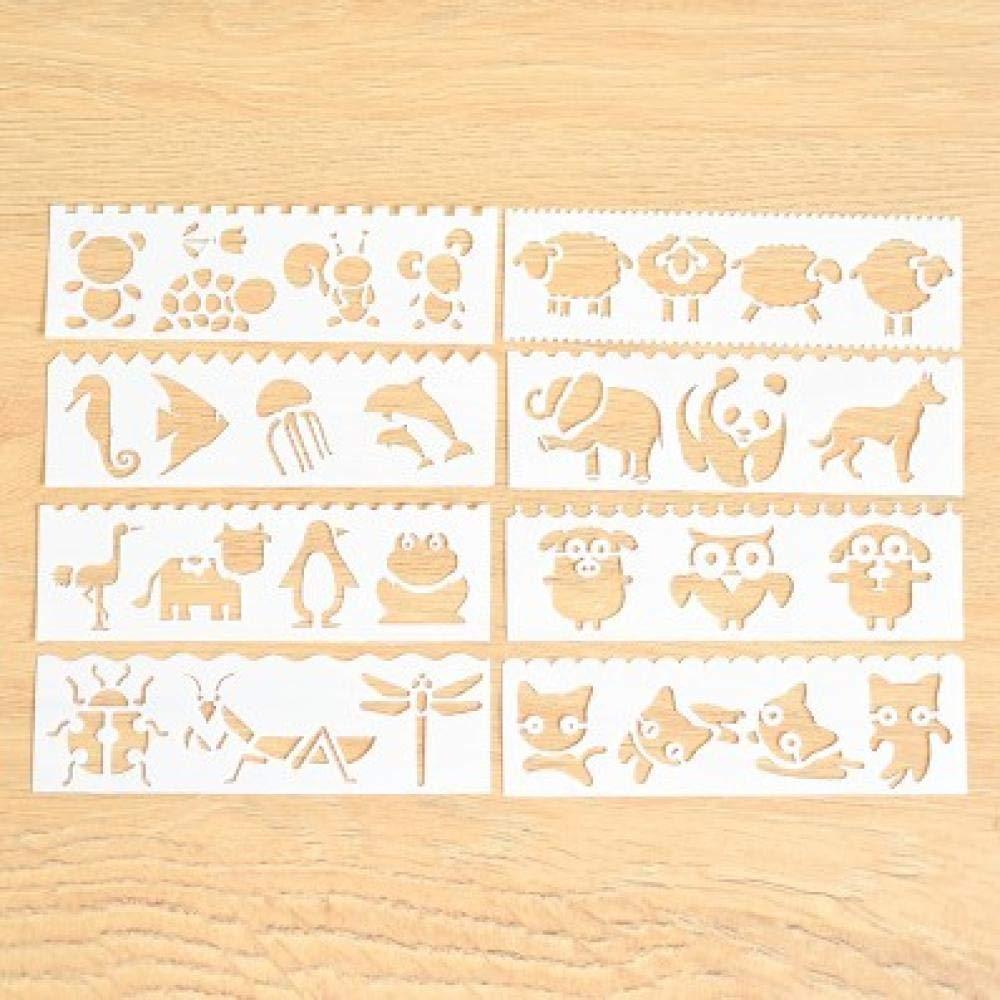 Pochoir De Peinture A/érographe Pochoirs Scrapbooking Scrapbooking Album Artisanat Cadeau R/éutilisable Animal EXOOODO Mod/èle De Gabarit Pochoirs Scrapbooking