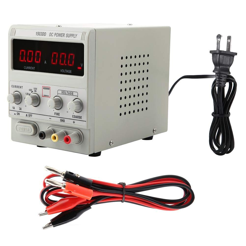 1503DD Adjustable DC Stabilized Digital Power Supply Maintenance Equipment 15V 3A Tools Electrician Digital Power Supply US110V 1503DD Power Supply