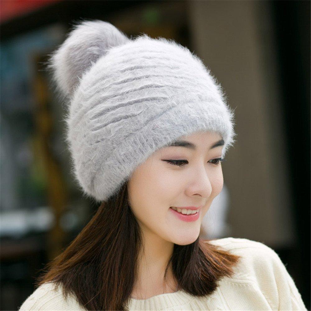 Las mujeres de invierno del knit Hat Lady pato caliente gruesa lanza hermosas mujeres enfrentan boin...