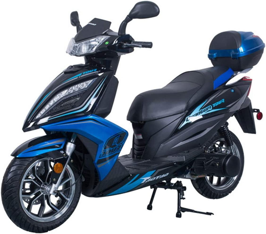 X-PRO 150cc Moped Scooter Adult Gas Scooter 4 stroke 150 Gas Moped Scooter Motorcycle Scooter Yellow