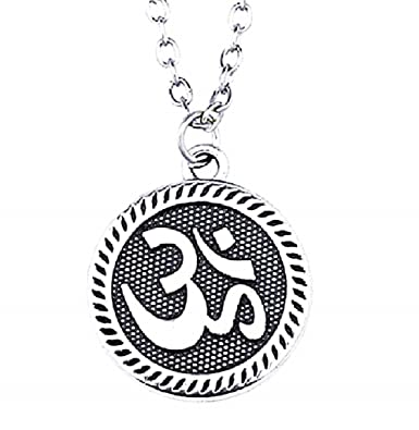 EVRYLON Collar Om Mantra Mujer Hombre Colgante Yoga Símbolo ...