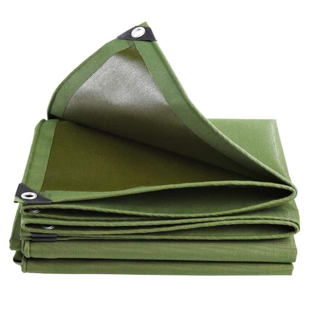 vert 2x2M GONGFF BÂche Polyvalente bÂche de Prougeection Contre la Pluie Prougeection Tente auvent Couverture de Sol Jardin Camping voiture (Couleur  Vert, Taille  2x2m)