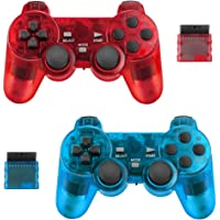 BicycleStore 2 Pack Wireless Controller for PS2 Playstation 2.4G Gamepad Joystick Remote with Dual Shock Vibration…