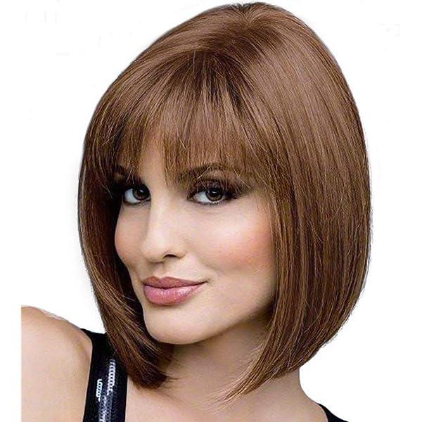 Amazon.com: Pelucas rubias cortas para mujeres ligeramente ...