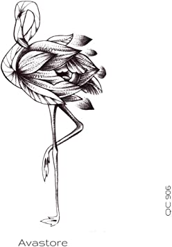 Avastore - Tatuaje temporal, diseño de flamenco, color rosa ...